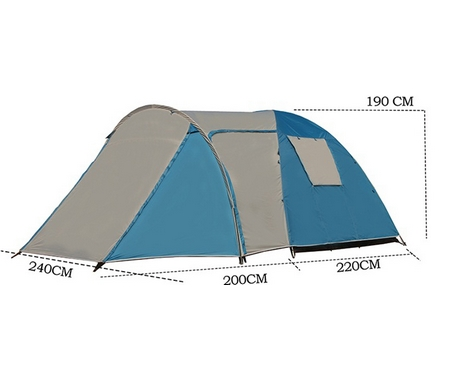 Палатка Coolwalk 4-х местная TASMAN 4V DOME PLUS, арт. 5224